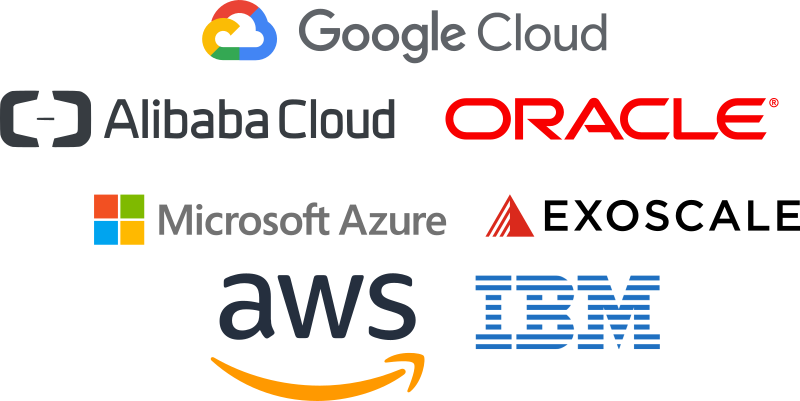 Cloud Provider Google Cloud Microsoft Azure aws IBM Oracle Aliababa Cloud